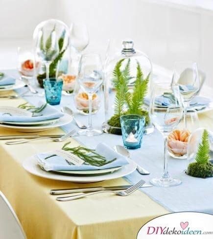 DIY Frühjahrsdeko-Ideen - Farn-Tischdeko
