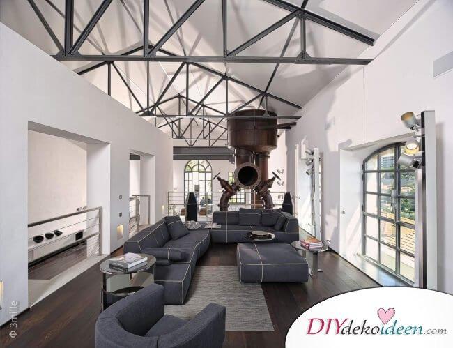 Extravagante Wohnzimmer Interieur-Ideen - Modernes Lofta