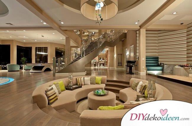 Extravagante Wohnzimmer Interieur-Ideen - Elegante Sitzgelegenheit