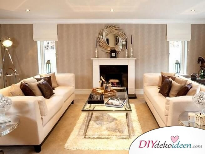 Extravagante Wohnzimmer Interieur-Ideen - Schlicht, aber schick