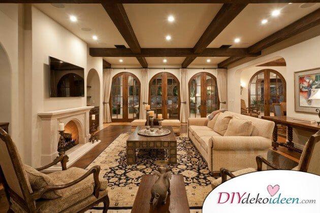 extravagante wohnzimmer interieur ideen holzfllerromantik