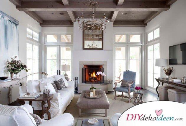 extravagante wohnzimmer interieur ideen klassisches wei
