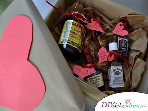 Spirituosen und Herzen - DIY Männergeschenke zum Valentinstag
