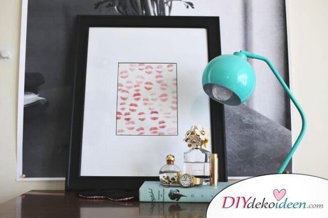 Lippenstift-Kunstwerk - DIY Geschenkidee zum Valentinstag
