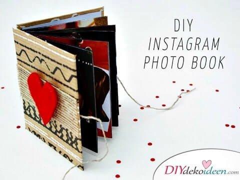 Instagram-Fotoalbum - DIY Geschenk zum Valentinstag