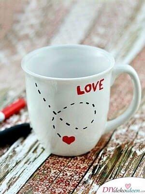 Liebestasse - DIY Geschenk zum Valentinstag