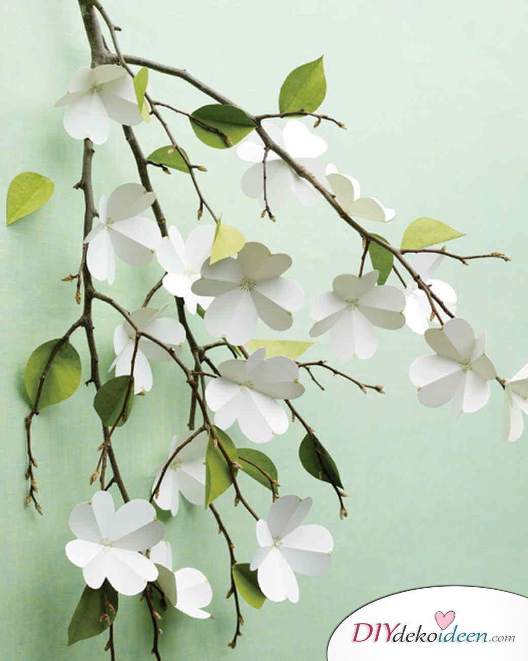 DIY Ideen - Frühlingsdeko selbst gestalten - Weiße Hartriegel-Blüten