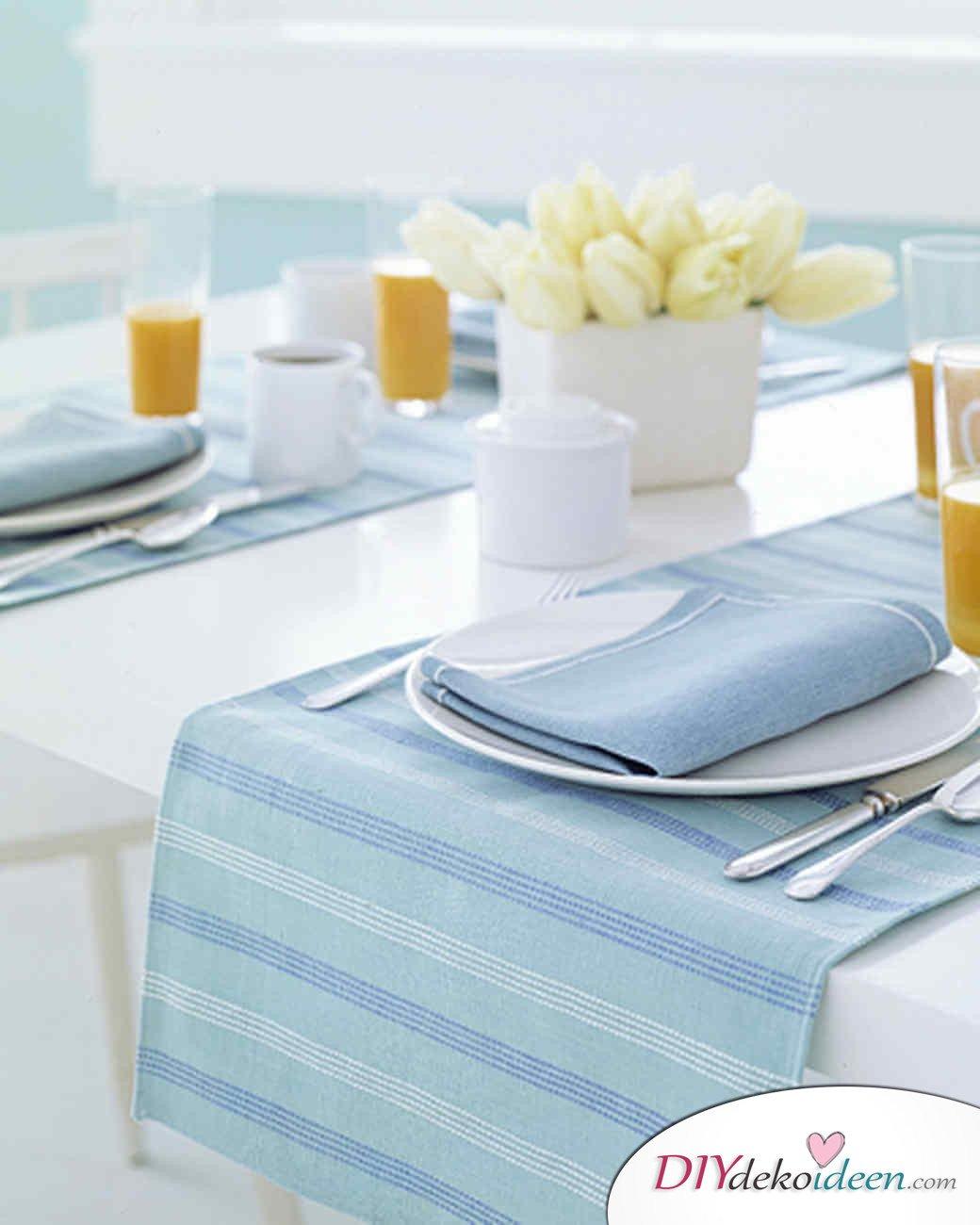 DIY Ideen - Frühlingsdeko selbst gestalten - Tischset für zwei