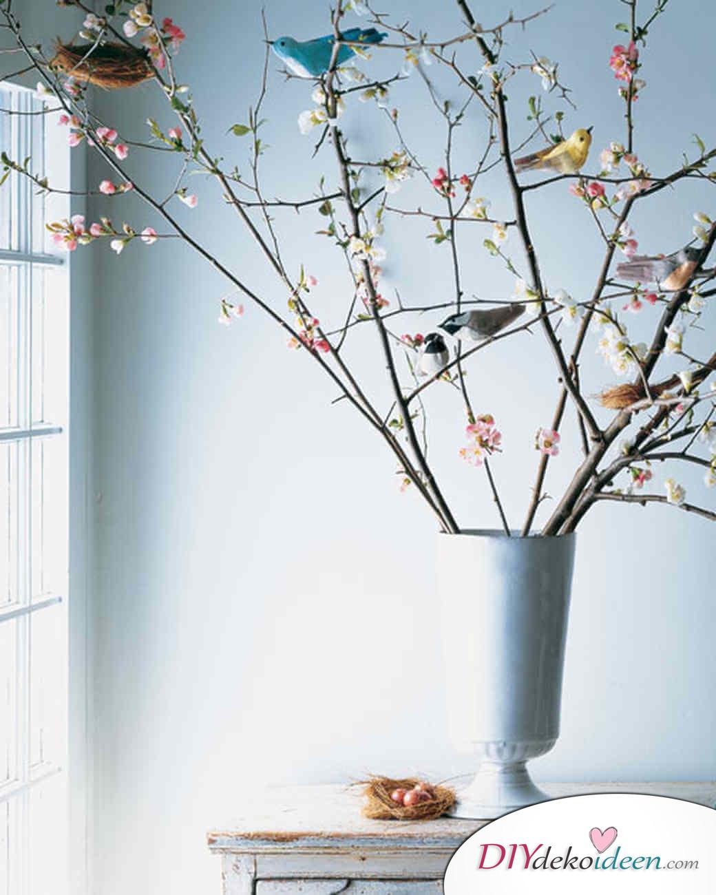 DIY Ideen - Frühlingsdeko selbst gestalten - Kleine Vögel
