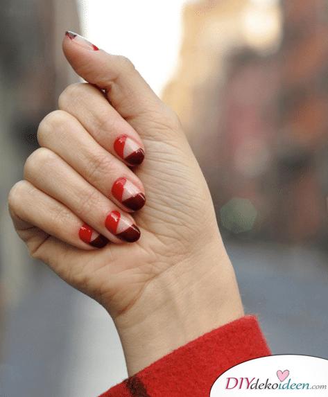 Stylische Rottöne - DIY Ideen für schöne Nägel zum Valentinstag