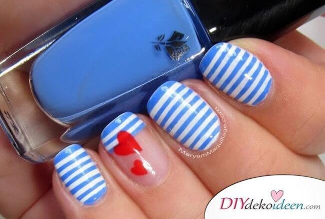 Geliebter Matrose - DIY Ideen für schöne Nägel zum Valentinstag