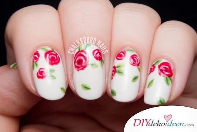 Rosengarten - DIY Ideen für schöne Nägel zum Valentinstag
