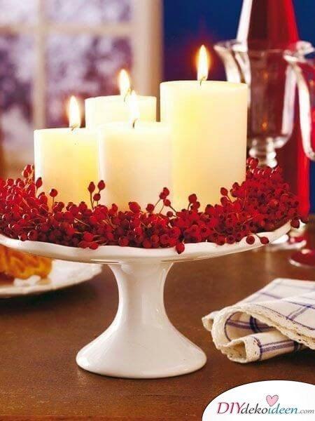 Kerzendeko selber machen zum Valentinstag