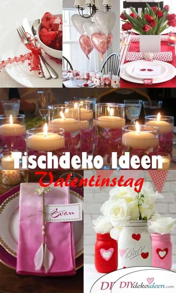 Tischdeko Inspirationen zum Valentinstag