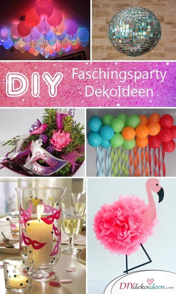 diese diy fasching partydeko ideen werden dich umhauen. Black Bedroom Furniture Sets. Home Design Ideas
