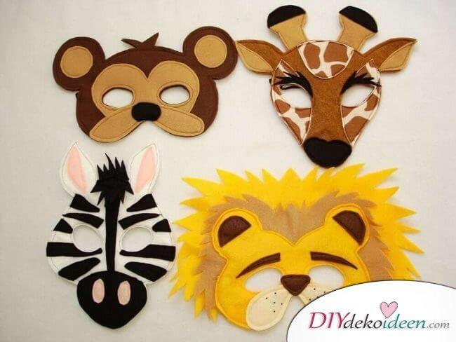 DIY Ideen für Faschingsmasken - Afrikanische Tiermotive