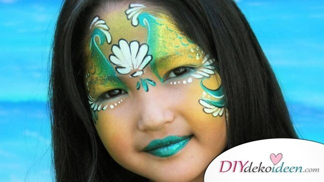 Zauberhafte Meerjungfrau - DIY Schminktipps - Ideen fürs Kinderschminken zum Karneval