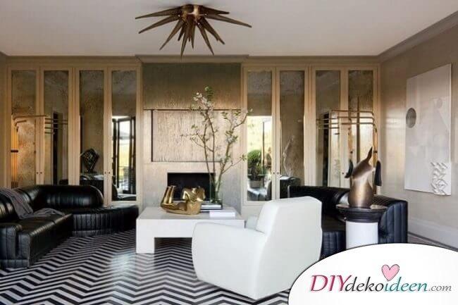 Extravagante Wohnzimmer Interieur-Ideen - Gewagte Muster