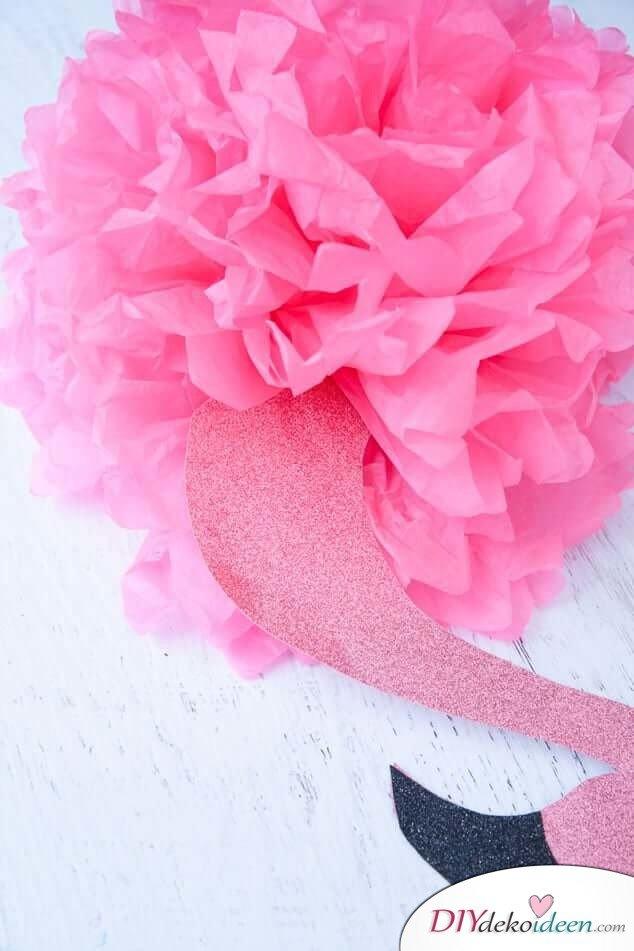 DIY pinke Flamingodeko basteln