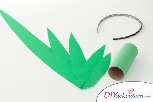 DIY Bastelideen - Karnevalskostüm Ananas
