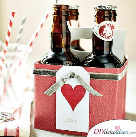 Süßer Bierkasten - DIY Valentinstag Geschenke selberbasteln