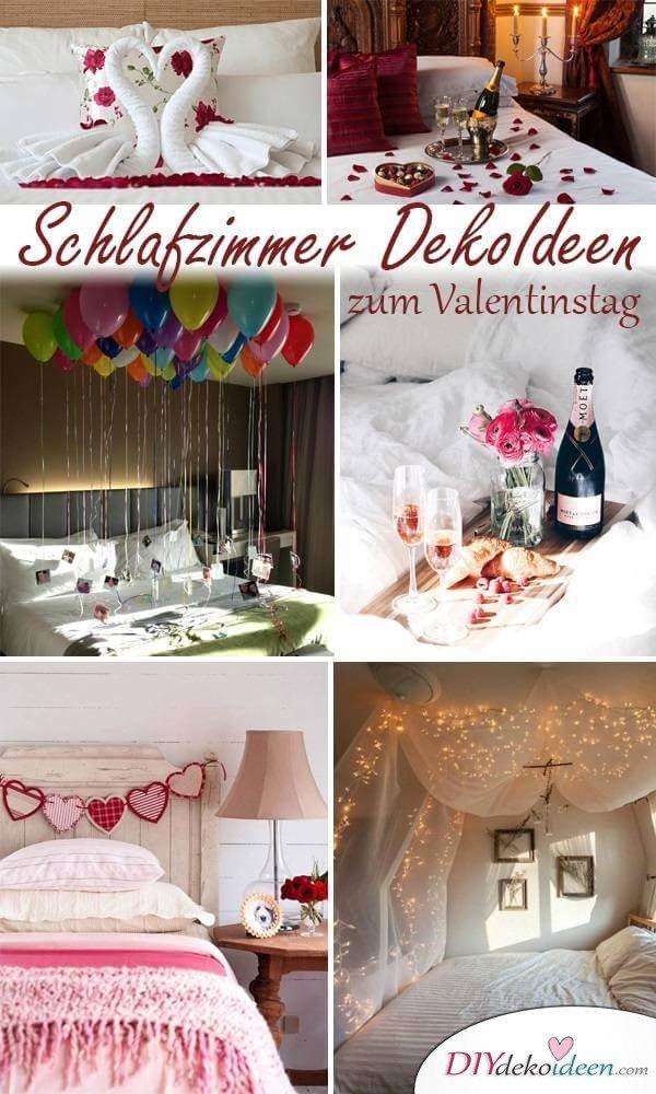 DIY Schlafzimmer Deko-Ideen zum Valentinstag: romantische Ideen