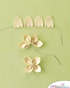 DIY Ideen - Frühlingsdeko selbst gestalten - Kissen mit Blütenblättern - Anleitung