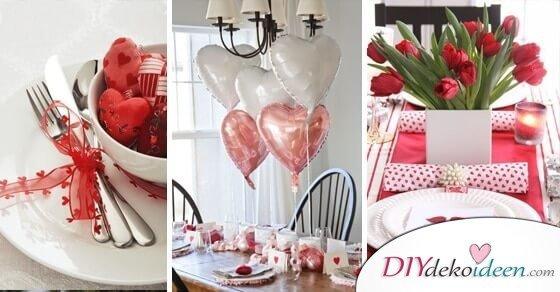 Dank diesen Tischdeko Ideen zum Valentinstag werden dir Männer zu Füßen liegen!