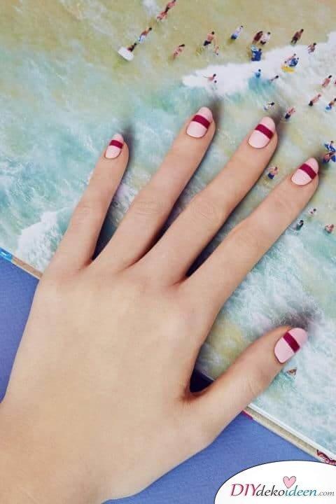 Minimalistisches Design - DIY Ideen für schöne Nägel zum Valentinstag