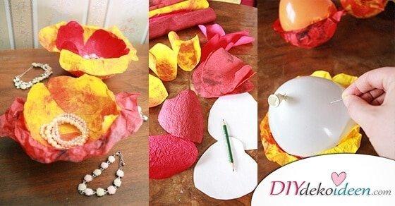Bezaubernde DIY Dekoidee – Frühlingsdeko basteln aus Knitterpapier