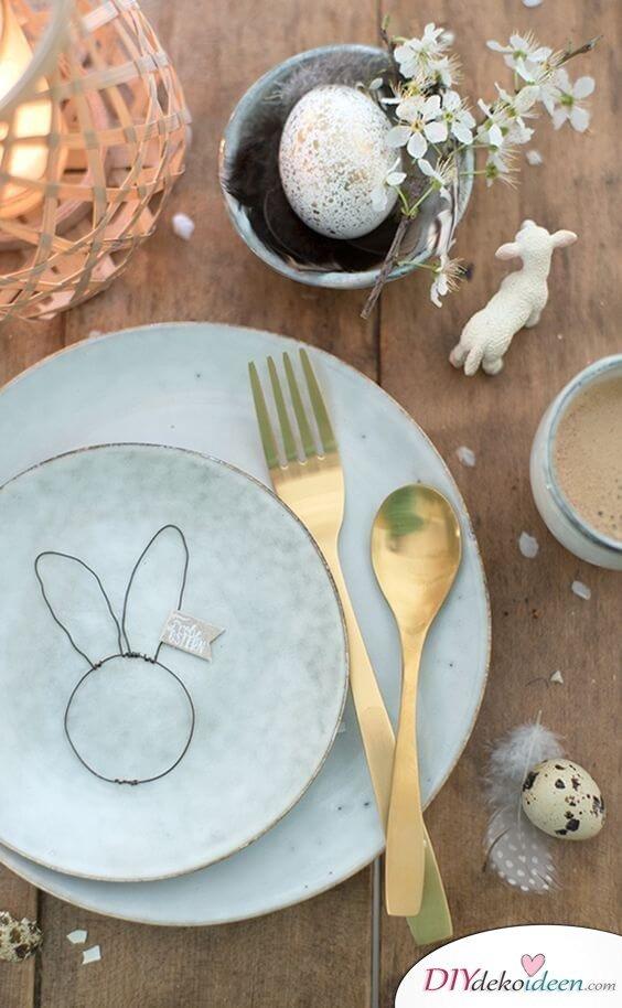 25+ DIY Deko Ideen zu Ostern, Tischdeko selber machen, Bastelideen mit Draht
