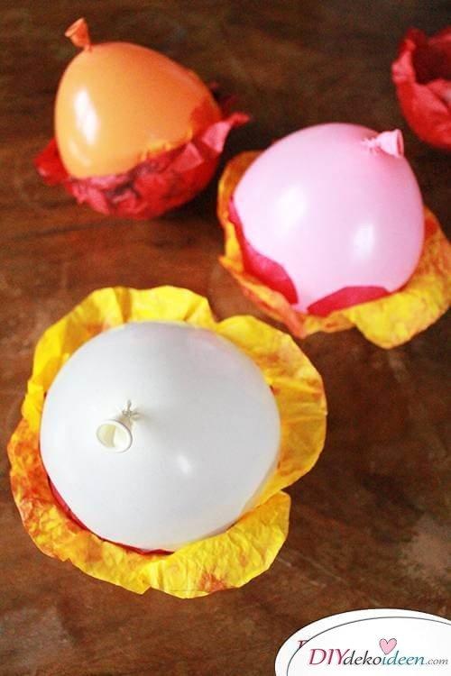 DIY Dekoidee - Blüten über Nacht trocknen lassen
