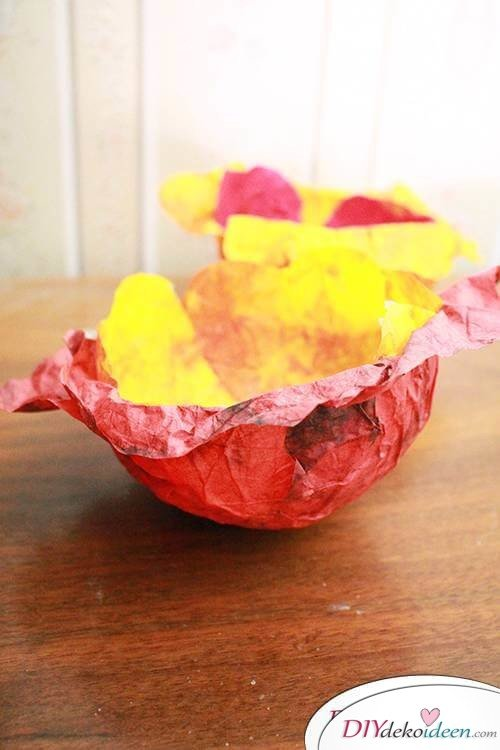 DIY Dekoidee - Bezaubernde Schalen aus Knitterpapier