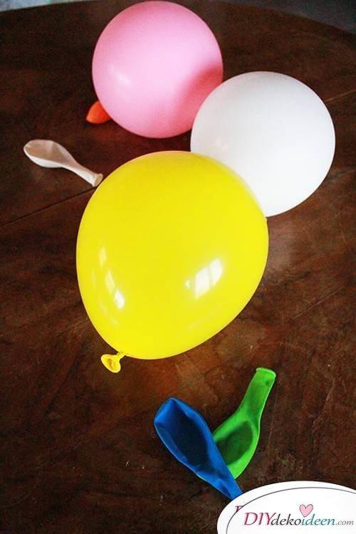 DIY Dekoidee - Kreative Bastelidee mit Luftballons