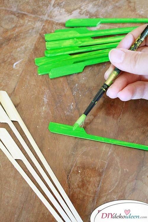 DIY Bastelidee mit Bambus-Spießen
