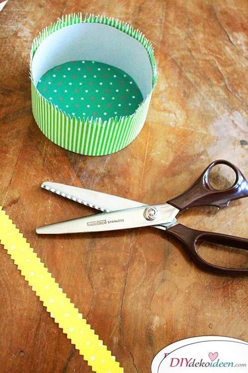 DIY Osterkörbchen mit Kindern basteln