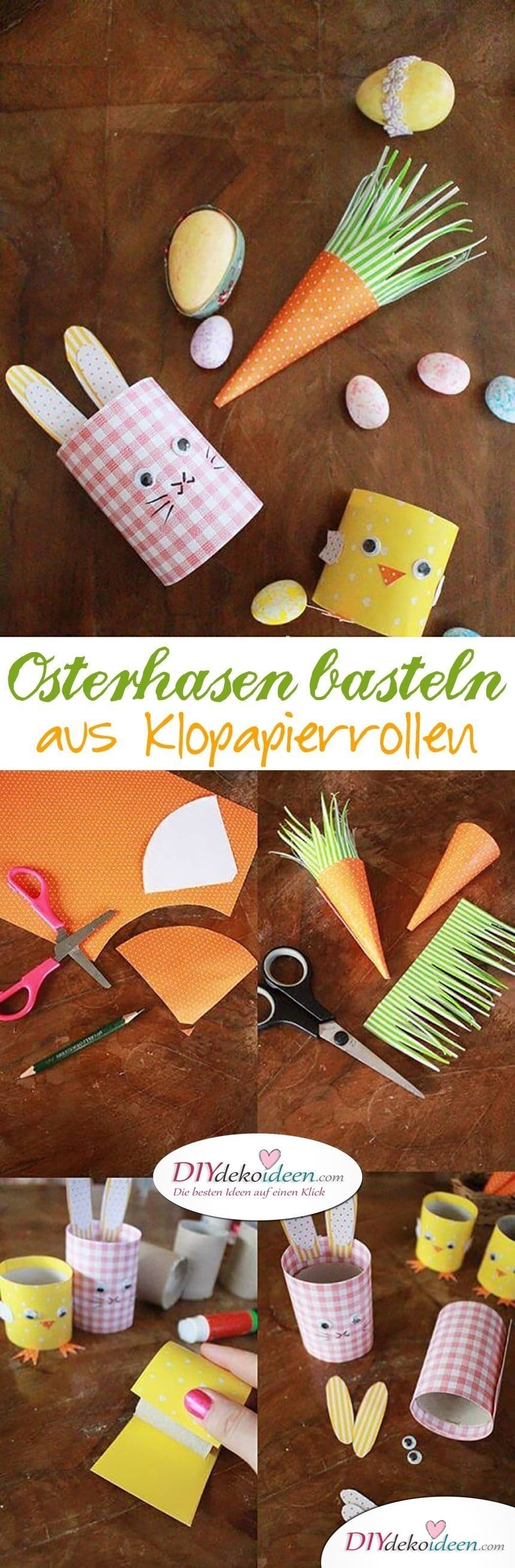 diy ideen mit klopapierrollen osterhasen basteln mit. Black Bedroom Furniture Sets. Home Design Ideas