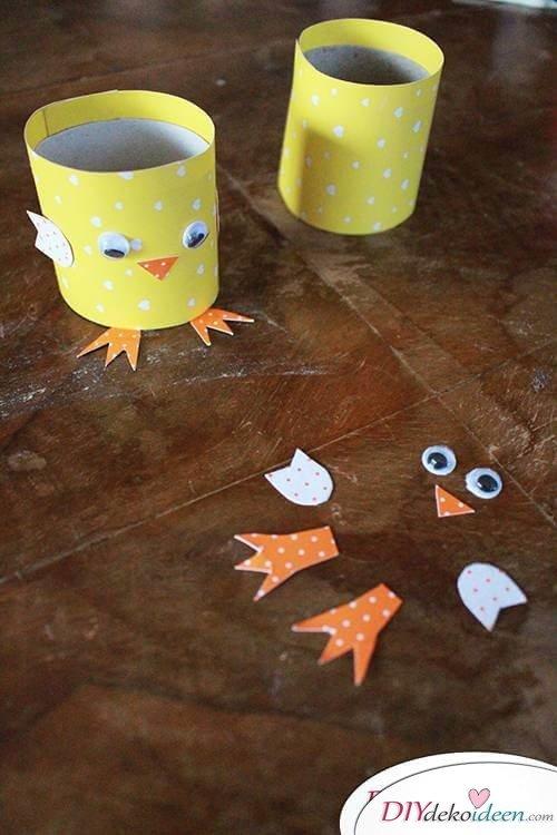 Mit Kindern basteln - DIY Küken