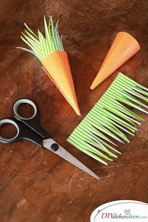 DIY Karotten basteln mit Kleinkindern