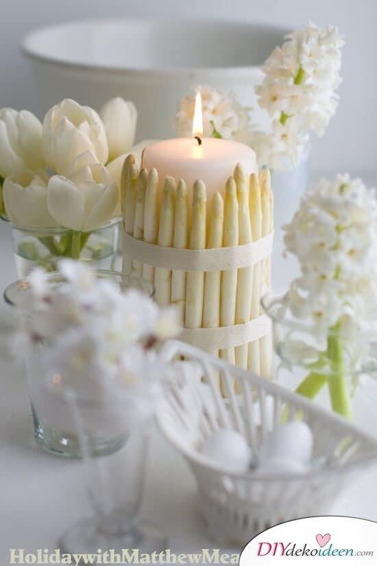 25+ DIY Deko Ideen zu Ostern, wunderschöne weiße Tischdeko, kreative Dekoration für den Frühling
