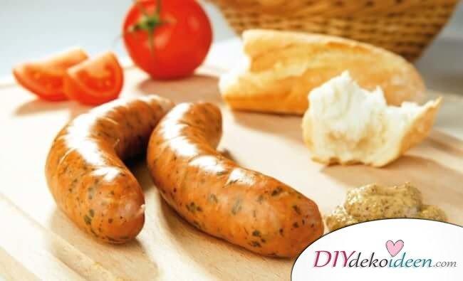 vegane Hot Dogs mit Süßkartoffel-Fries - vegane Würstchen