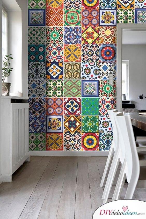 Fliesen-Deko Ideen: extravagantes Esszimmer mit marokkanischen Fliesen: bunte Muster