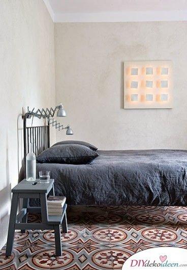 Fliesen-Deko Ideen: marokkanische Interieur Ideen, Schlafzimmer mit marokkanischen Fliesen