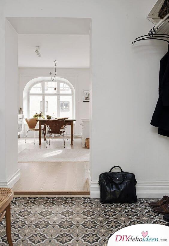 Fliesen-Deko Ideen: moderne Interieur Ideen, Einrichtungsideen mit marokkanischen Fliesen, Eingangsbereich