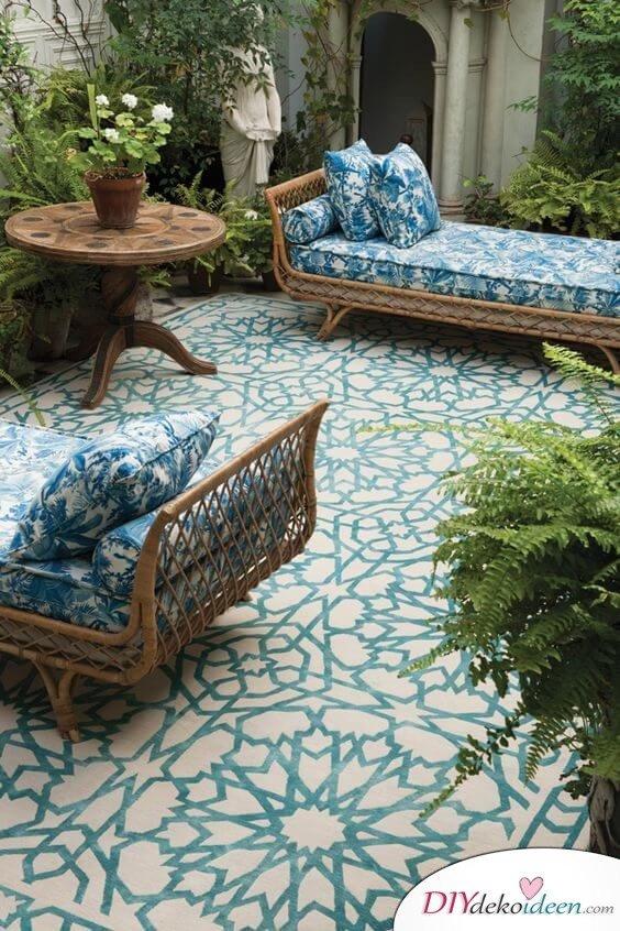 Fliesen-Deko Ideen: moderne Garten Ideen, Einrichtungsideen mit marokkanischen Fliesen