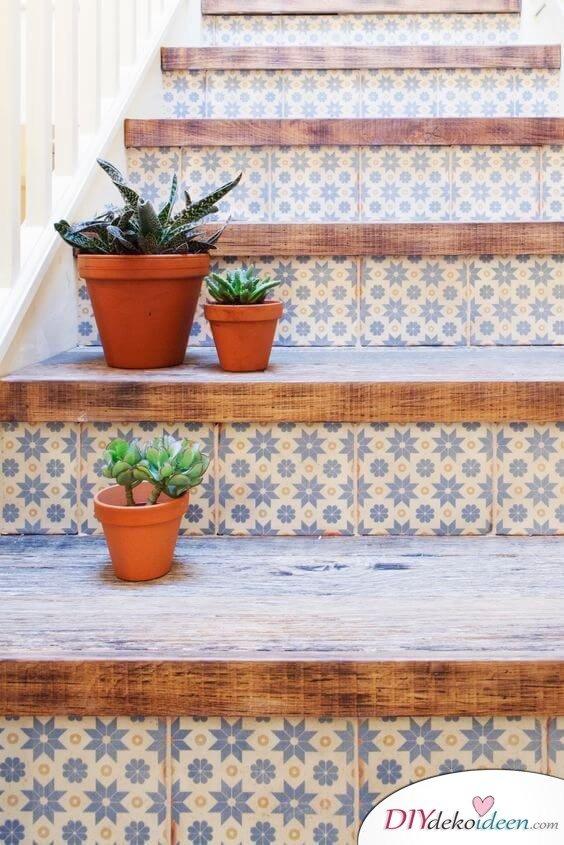 Fliesen-Deko Ideen: moderne Design Ideen, Einrichtungsideen mit marokkanischen Fliesen: Treppe