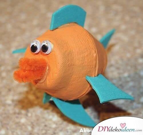 DIY Bastelideen mit Eierkartons - Fisch