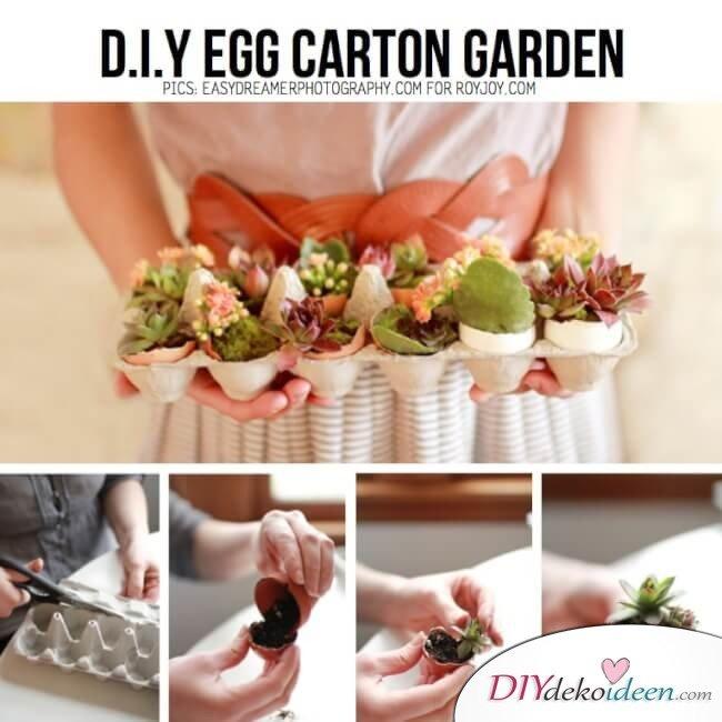 DIY Bastelideen mit Eierkartons - Eierkarton-Garten