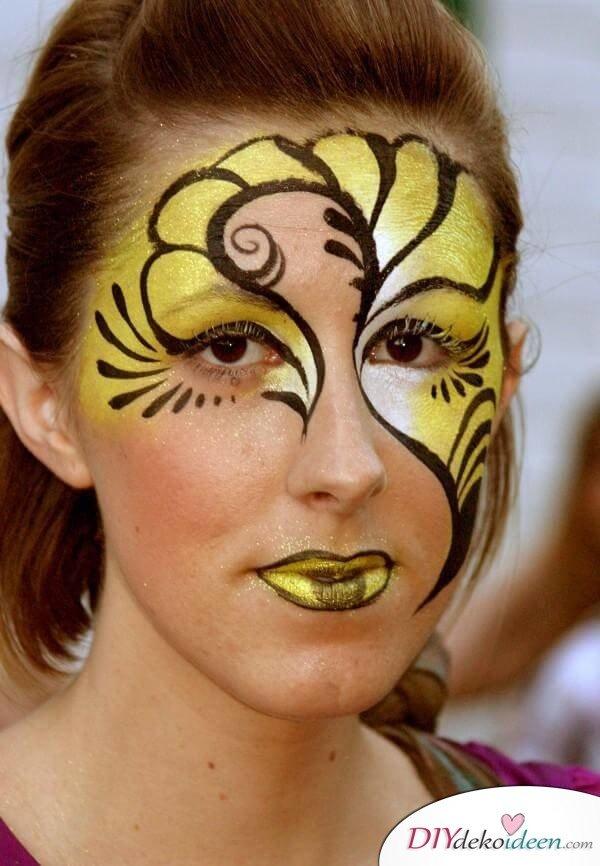 DIY Schminktipps für Fasching - Bienenkönigin