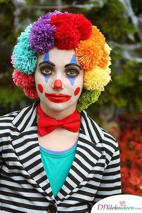 DIY Schminktipps für Fasching - Clown